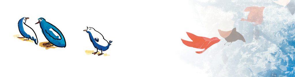oiseau de la bannière du site M.Broca illustrations, dessin, encres, monotype