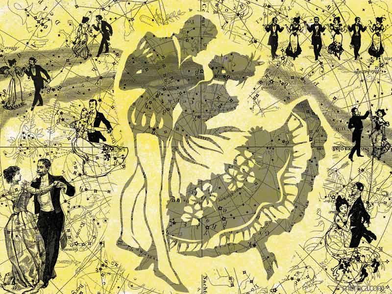 conte, un bal avec des couples qui dansent