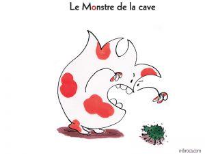 projets à éditer Couverture du monstre de la cave. Le monstre qui effraye une araignée