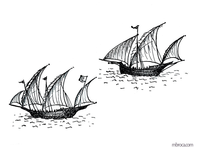 Deux bateaux, La belle Génoise, M.T. Buhagiar, M.Broca