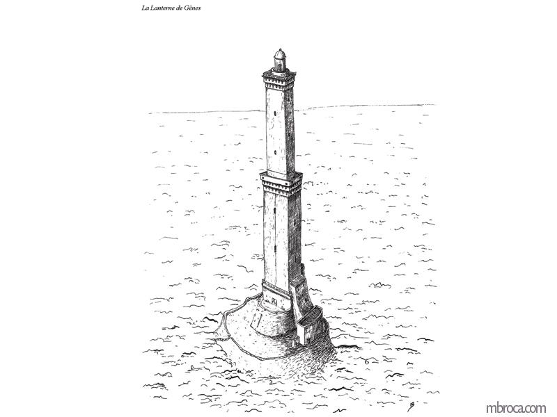 Phare de Gênes.La belle Génoise, M.T. Buhagiar, M.Broca.
