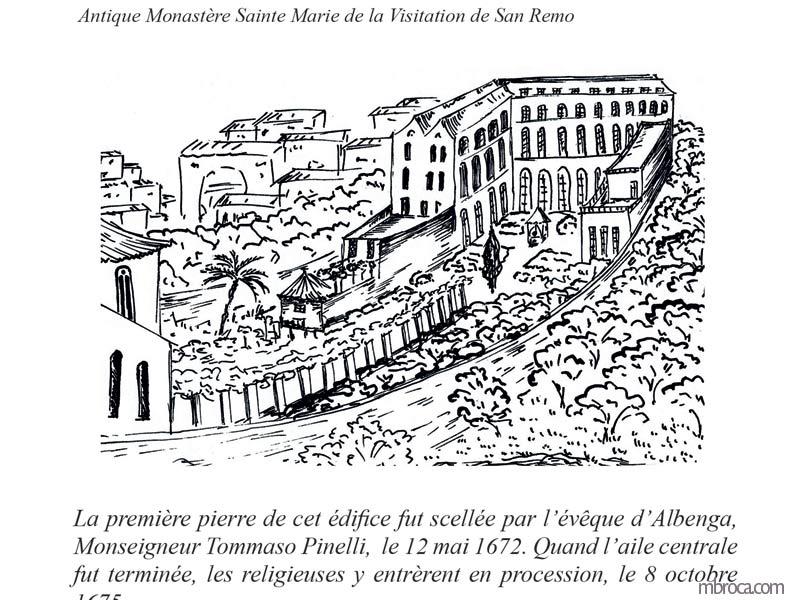 La belle Génoise, M.T. Buhagiar, M.Broca.Antique monastère Sainte Marie de la Visitation de San Remo, encre de chine
