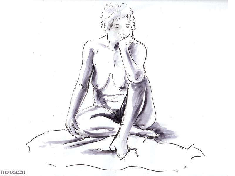 femme nue de face