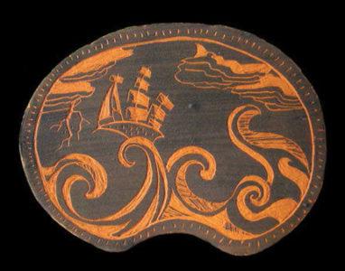 un navire dans une tempête au beau milieu des vagues, metaphore de la navigation dans le plan du site