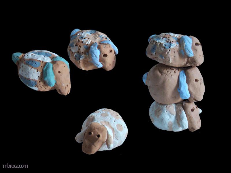 projet six moutons en céramique