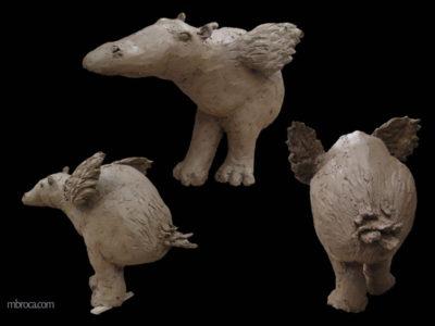 un hybride entre un hippopotame et une oie