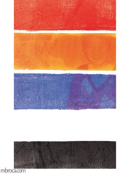 le drapeau traditionnel taiwanais et la photo d'agnes en arrière plan.