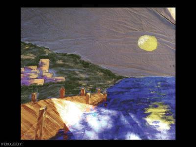 un port au clair de lune