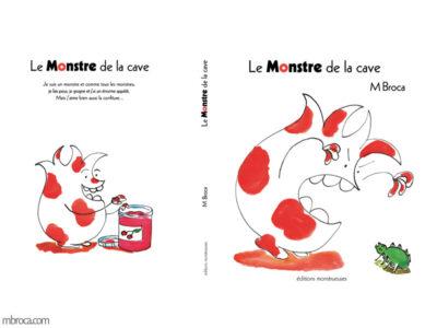 première et quatrième de couverture le monstre de la cave.