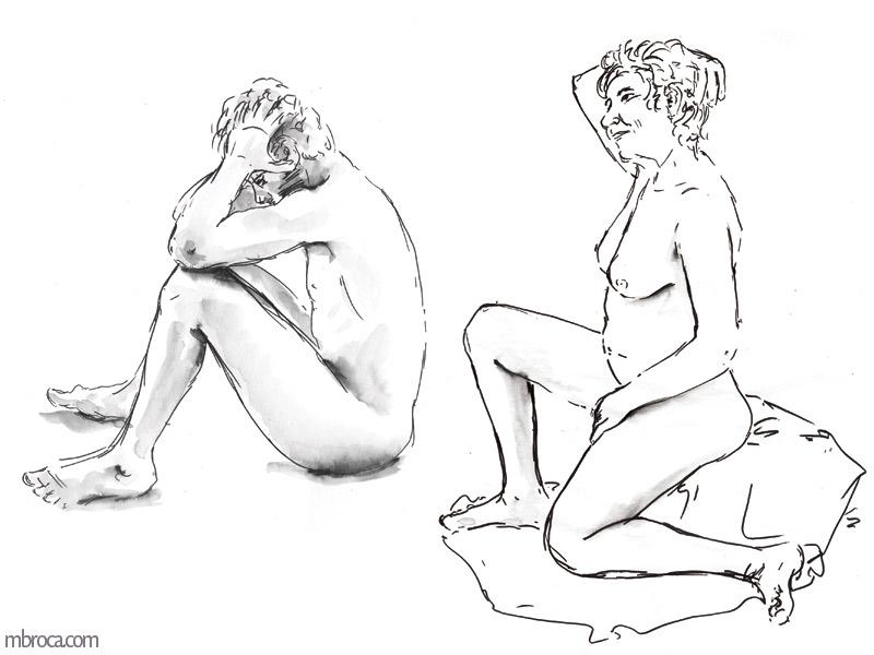 un homme et une femme nus
