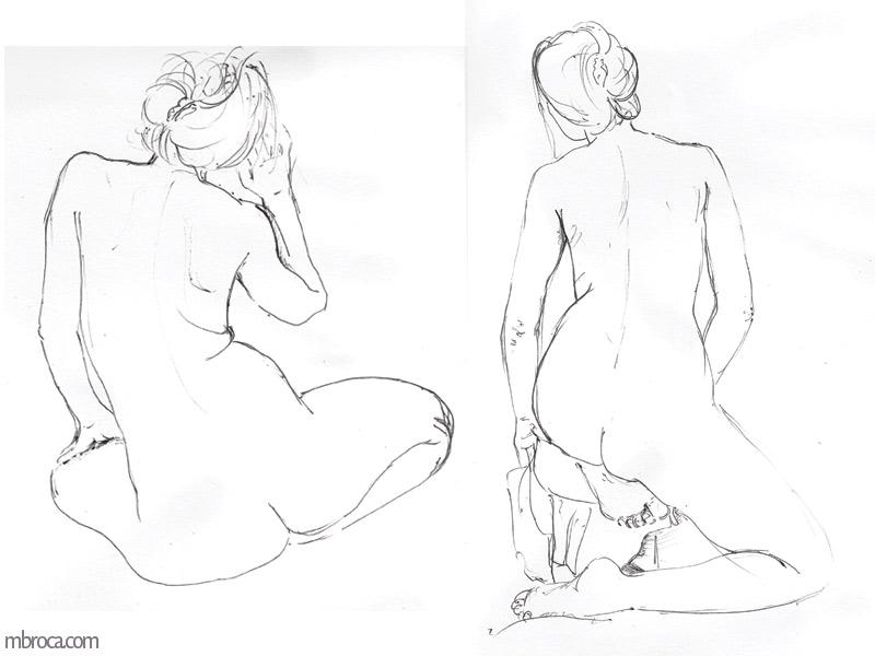 le meme femme nue de dos