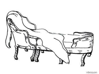 Publications, La belle Génoise, M.T. Buhagiar, M.Broca.Une duchesse, fauteuil avec repose pieds.