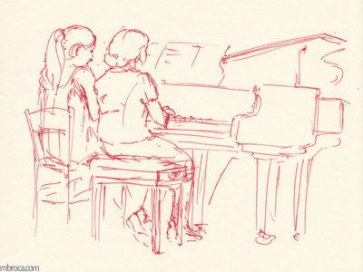 concerts, Deux filles au piano
