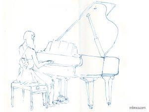 concerts, une jeune femme au piano