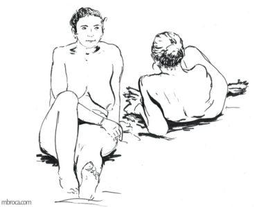 deux femmes nues.