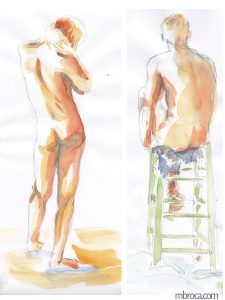 Deux hommes nus, oeuvre