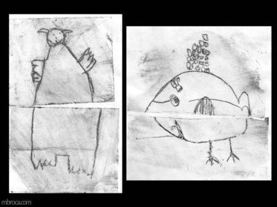 Projet pédagogique, chien ours et baleine poule