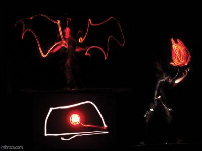 Projet pédagogique, une chauve souris, un porteur de flamme et un oeil