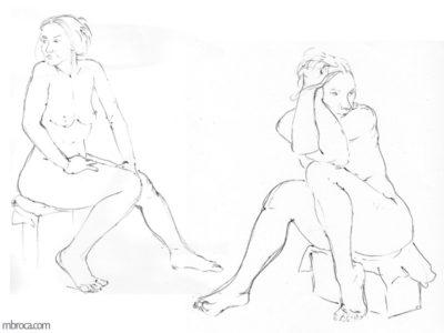 Deux femmes nues assises