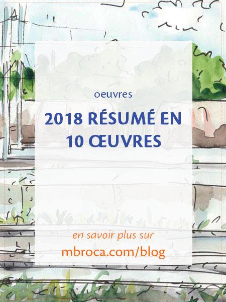 2018 résumé en 10 oeuvres, article de blog de l'artiste M.Broca