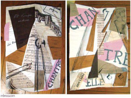 Formation au livre d'artiste, un livre ouvert, uniquement deux planches.