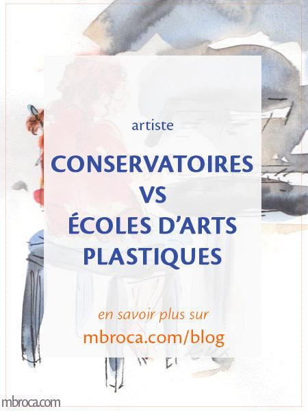 Article de blog conservatoire vs écoles d'arts palstiques.