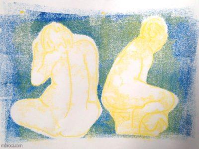 Femmes nues de dos.