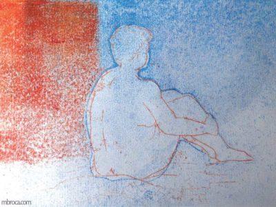 Femme nue de dos.