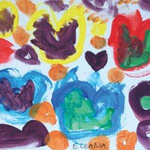 Mélanges des couleurs primaires : des coeurs