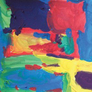 Mélanges des couleurs primaires : abstraction