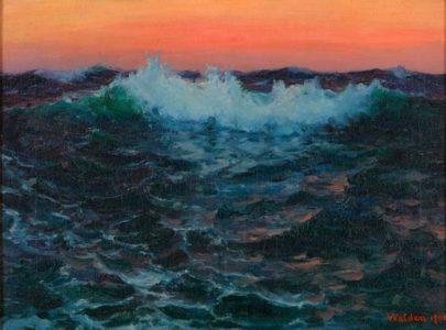 Une vague en peinture