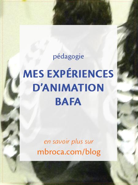 Mes expériences d'animation BAFA, article de blog