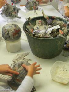 Animation BAFA : atelier de papier mâché