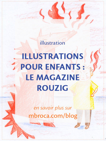 article de blog : Illustrations pour enfants : le magazine Rouzig