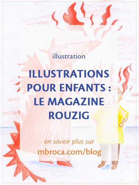 article de blog : Illustrations pour enfants : le magazine Rouzig