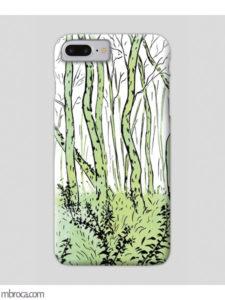 Inprint : Coque de smartphone, une foret verte