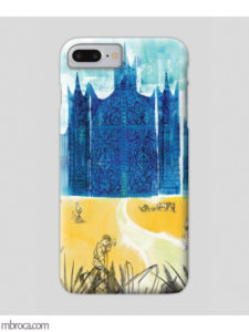 Inprint : Coque de smartphone, un chateau bleu