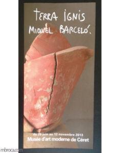 5 musées : couverture du livret d'exposition Miquel Barcelo