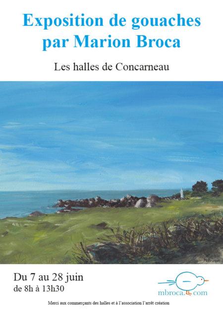 Exposition halles de Concarneau, gouaches